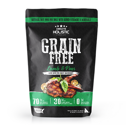 Absolute Holistic Grain Free Lamb & Peas Dog Food 0.5lbs