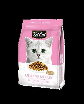 Kit Cat Mini Fish Medley Premium Cat Food 1.2kg