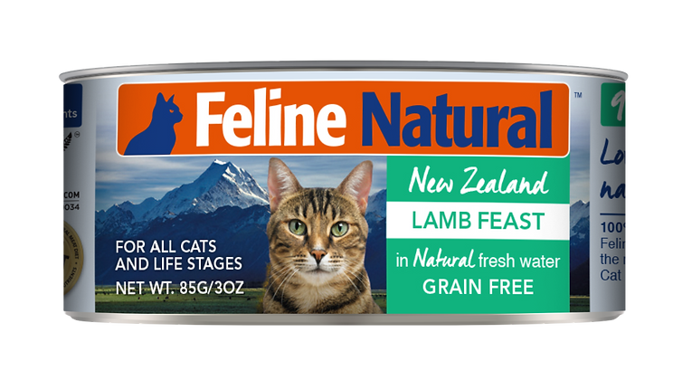 Feline Natural Lamb Cat Canned Food 170g