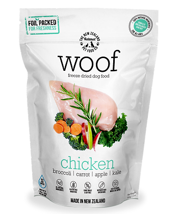 WOOF Freeze Dried Raw Chicken 50g/320g/1.2kg