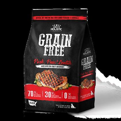 Absolute Holistic Grain Free Pork & Peas Dog Food 3.3lbs