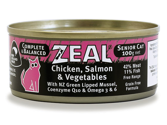 Zeal Chicken, Salmon & Vegetables Grain Free Cat Canned Food 100g