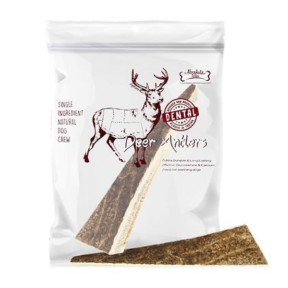 Absolute Bites Half Deer Antlers Dental Chew (Maxi)