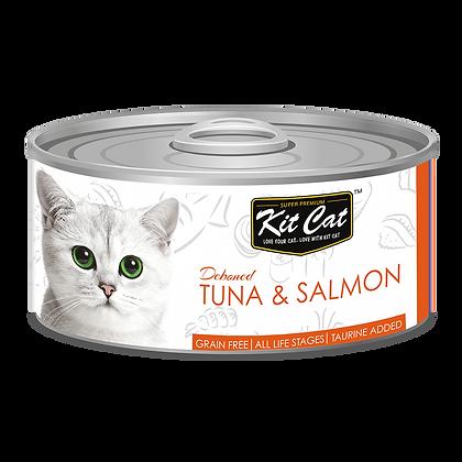 Kit Cat Tuna & Salmon Aspic Canned Cat Food 80g