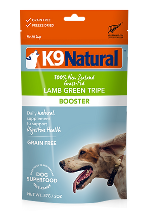 K9 Natural Lamb Green Tripe Booster Feast Freeze Dried Dog Food 57g
