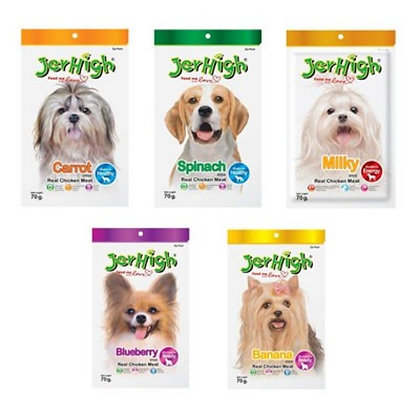 [BUY 8 FREE 2] Jerhigh Dog Treats/Snacks 70g