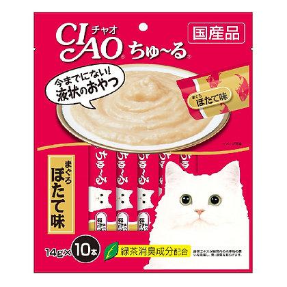 Ciao Chu ru Whitemeat Tuna Scallop Flavour 14g x 10