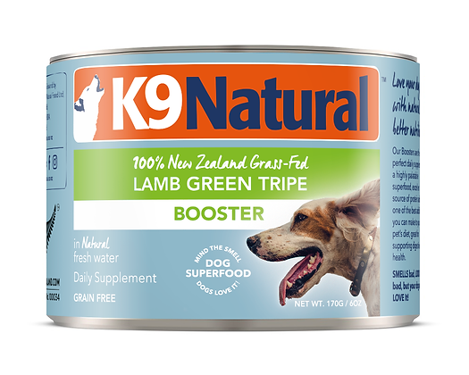 K9 Natural Lamb Green Tripe Booster Canned 170g