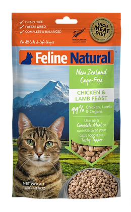 Feline Natural Chicken & Lamb Freeze Dried Toppers 100g