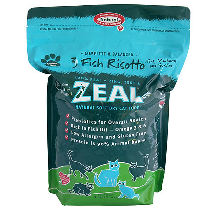 Zeal 3 Fish Risotto Cat Dry Food 1.5kg