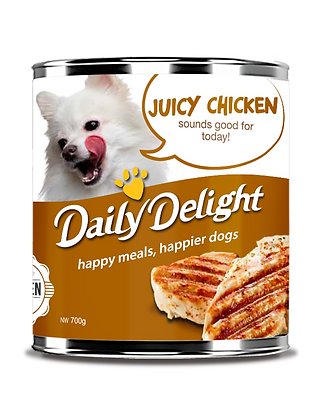 Daily Delight Juicy Chicken Dog Canned Food 180/700g