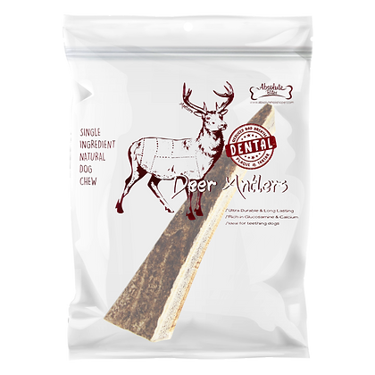 Absolute Bites Half Deer Antlers Dental Chew (Mini)