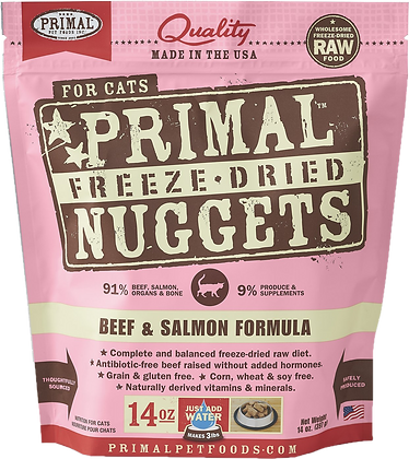 Primal Freeze Dried Feline Beef & Salmon Nuggets (Cat) 14oz