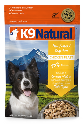 K9 Natural Chicken Feast Freeze Dried Dog Food 1.8kg