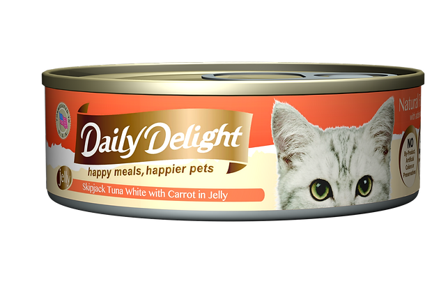 Daily Delight JELLY Skipjack Tuna White with Carrot in Jelly Cat Canned Food
