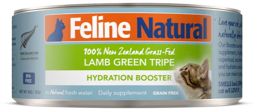 Feline Natural Lamb Green Tripe Cat Canned Food 85g