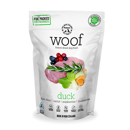 WOOF Freeze Dried Raw Duck 50g/320g/1.2kg