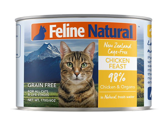 Feline Natural Chicken Cat Canned Food 170g