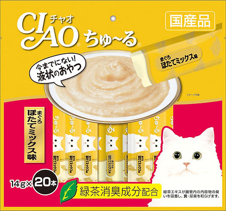 Ciao Chu ru Tuna Scallop Mix 14g x 20