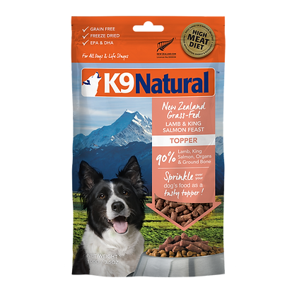K9 Natural Lamb & King Salmon Feast Freeze Dried Toppers 100g