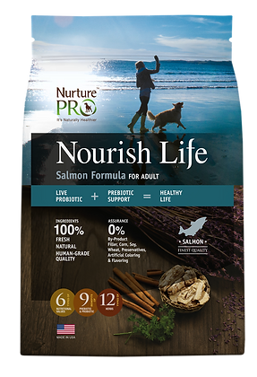 Nurture Pro Nourish Life Salmon Formula Adult Dog Dry Food 4lbs