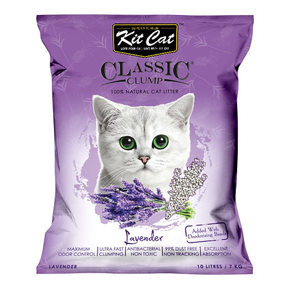 Kit Cat Lavender Classic Clump Cat Litter 10kg/7l