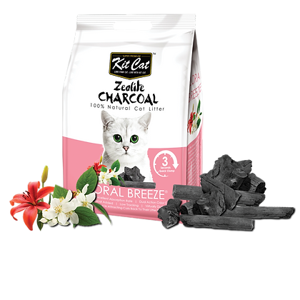 Kit Cat Zeolite Charcoal Floral Breeze Cat Litter 4kg