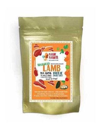 Raw Rawr Freeze Dried Lamb Balanced Diet 400g/1.2kg