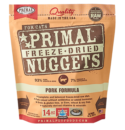 Primal Freeze Dried Feline Pork Nuggets (Cat) 14oz