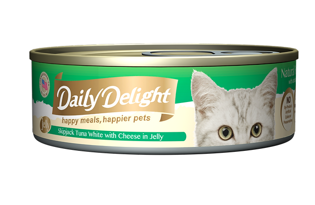 Daily Delight JELLY Skipjack Tuna White with Cheese in Jelly Cat Canned Food