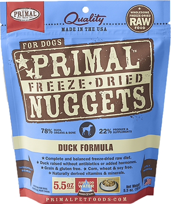 Primal Freeze Dried Duck (Dog) 5.5oz
