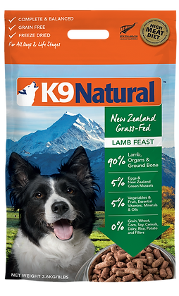 K9 Natural Lamb Feast Freeze Dried Dog Food 3.6kg
