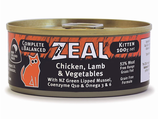 Zeal Chicken, Lamb & Vegetables Grain Free Cat Canned Food 100g