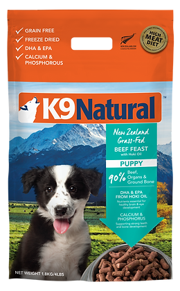 K9 Natural Hoki & Beef Feast Freeze Dried Dog Food (Puppy) 1.8kg