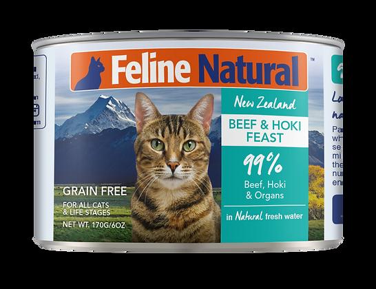 Feline Natural Beef & Hoki Cat Canned Food 170g