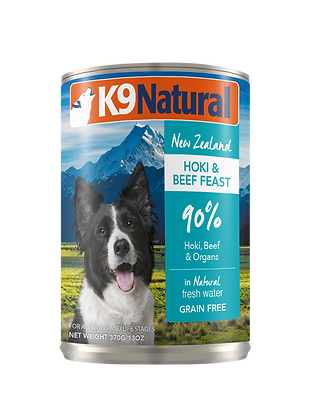 K9 Natural Hoki & Beef Canned 370g
