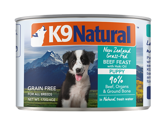 K9 Natural Hoki & Beef Canned (Puppy) 170g