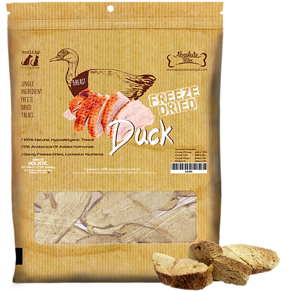 Absolute Bites Freeze Dried Duck Treats 4oz