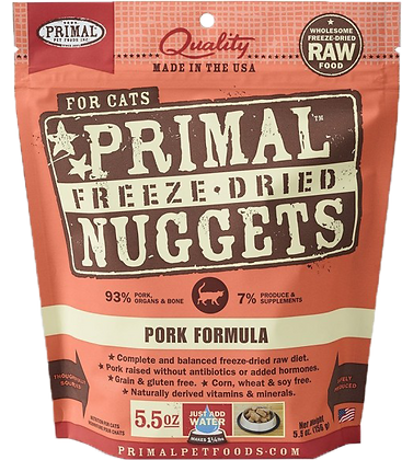 Primal Freeze Dried Feline Pork Nuggets (Cat) 5.5oz