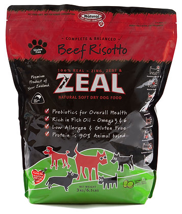 Zeal Beef Risotto Dog Soft Dry Food 3kg