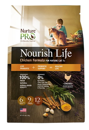 Nurture Pro Nourish Life Chicken Formula Mature Cat Dry Food 12.5lbs