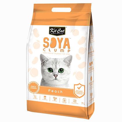 Kit Cat SoyaClump Peach SoyBean Litter 7l