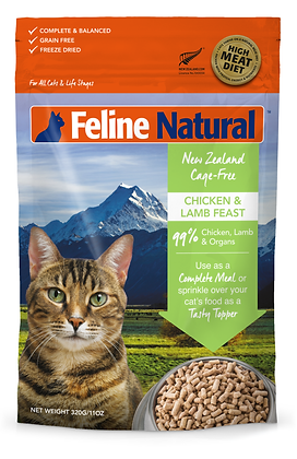 Feline Natural Chicken & Lamb Freeze Dried Cat Food 320g