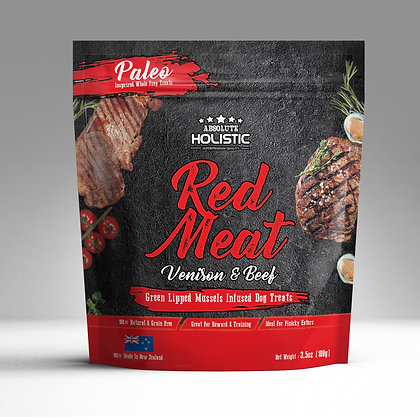 Absolute Holistic Air Dried Dog Treats (Red Meat) 100g