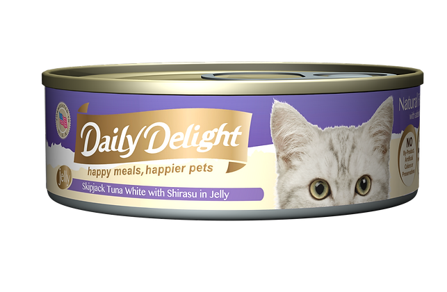 Daily Delight JELLY Skipjack Tuna White with Shirasu in Jelly Cat Canned Food