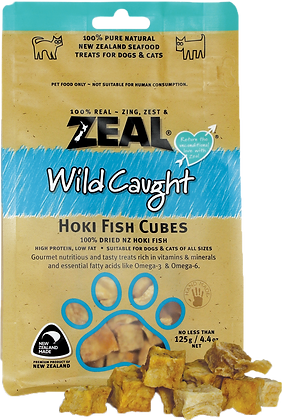 Zeal Hoki Fish Cubes Cat & Dog Treats 125g
