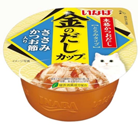 Ciao Kinnodashi Cup - Chicken Fillet in Gravy Topping Dried Bonito 70g