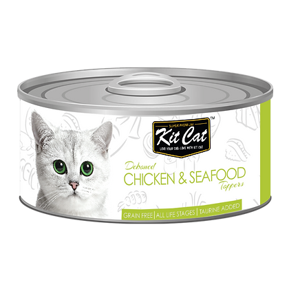 Kit Cat Chicken & Seafood Aspic Canned Cat Food 80g