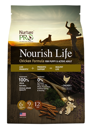 Nurture Pro Nourish Life Chicken Formula Puppy & Adult Dog Dry Food 12.5lbs