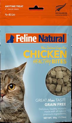 Feline Natural Freeze Dried Chicken Healthy Bites 50g